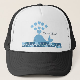 It's A Boy! Cute Whale Trucker Hat