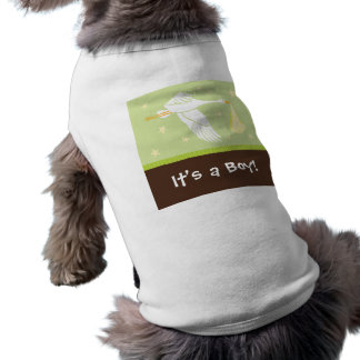 It's a Boy! Dog Tank - Green/Brown Sleeveless Dog Shirt