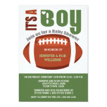 It's a Boy Football Couples Baby Shower Invitation