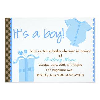 It's A Boy! 13 Cm X 18 Cm Invitation Card