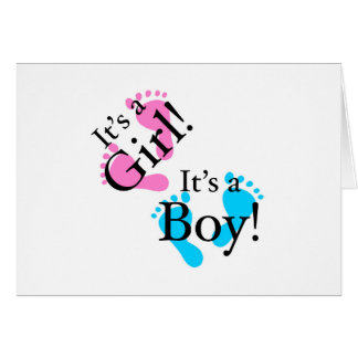 It's a Boy It's a Girl - Newborn Baby Card