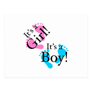 It's a Boy It's a Girl - Newborn Baby Postcard
