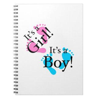 It's a Boy It's a Girl - Newborn Baby Spiral Notebook