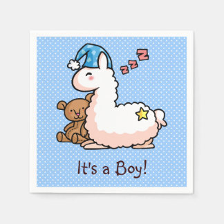 It's a Boy Llama! Paper Napkins