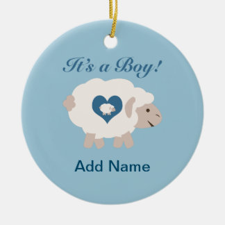It's a Boy! Mama Sheep Christmas Ornament