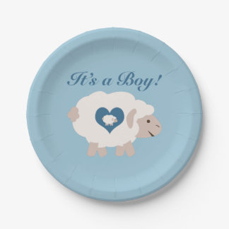 It's a Boy! Mama Sheep Paper Plate