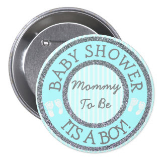 It's a Boy, Mum to be Baby Shower Button