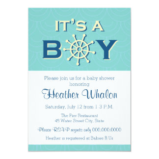 It's a Boy nautical baby shower invitation