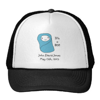 It's a Boy New Baby Birth Announcement Mesh Hats