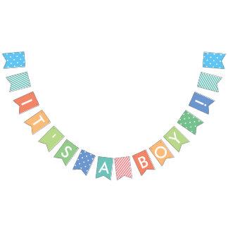 It's A Boy Pastel Rainbow Baby Shower Banner