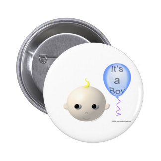 I'ts a Boy (personalize/customize any design) 6 Cm Round Badge