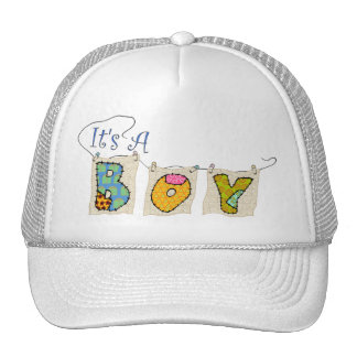 It's A Boy Quilted - Birth Announcement Cap