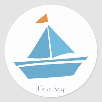 It's a boy! round stickers