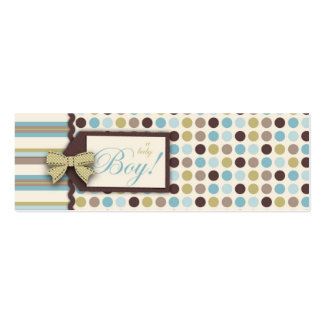 It's a Boy! Skinny Gift Tag Pack Of Skinny Business Cards