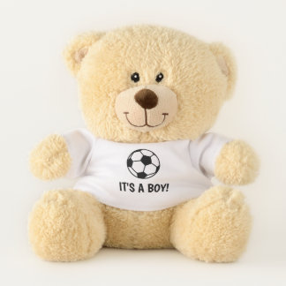 It's a boy soccer ball teddy bear for new baby