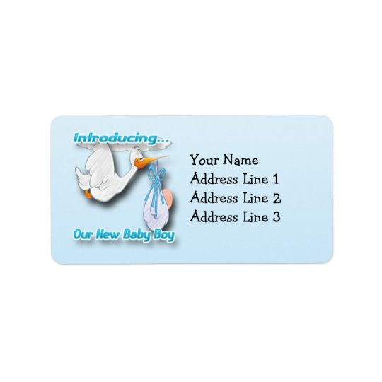It's a Boy Stork Birth Announcement Address Labels