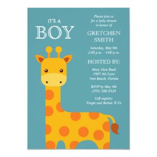 It's a Boy Sweet Giraffe Baby Shower Invitation