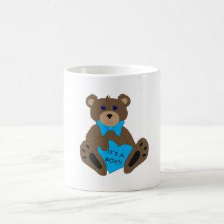 It's A Boy!! Teddy Basic White Mug