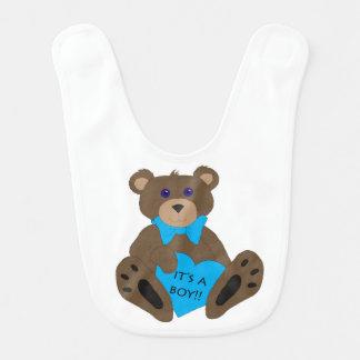 It's a boy!! Teddy Bear Bib