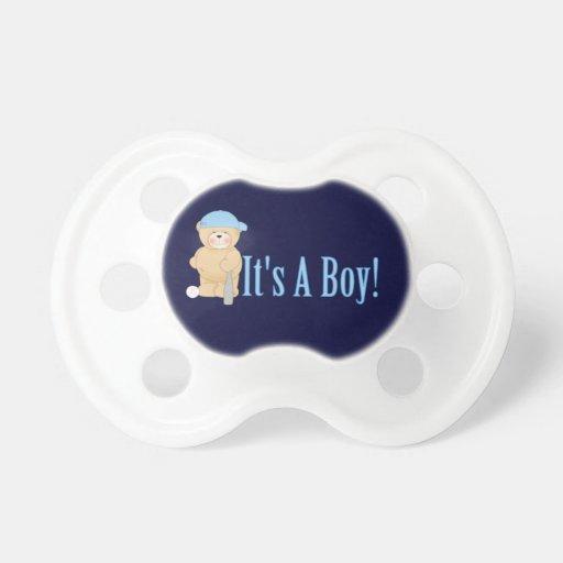 It's a Boy Teddy Bear Pacifiers