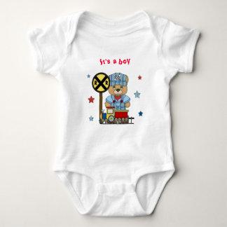 It's a Boy Teddy Bear Train Tee Shirts