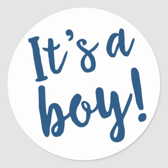 It's A Boy Trendy Script in Navy Blue