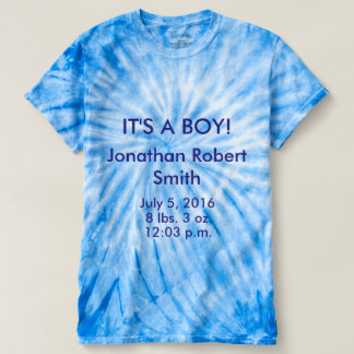 IT'S A BOY! Tye Dyed T Shirt