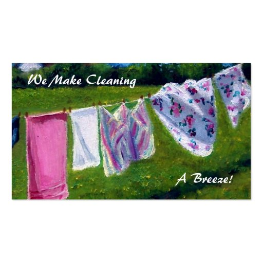 IT'S A BREEZE: LAUNDRY BUSINESS CARD