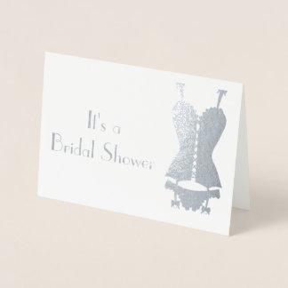 It's a Bridal Shower Silver Foil Card