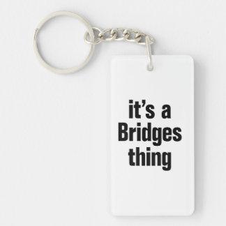 its a bridges thing Double-Sided rectangular acrylic keychain
