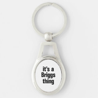 its a briggs thing Silver-Colored oval keychain