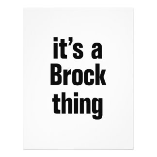 """its a brock thing 8.5"""" x 11"""" flyer"""