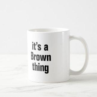 it's a brown thing basic white mug