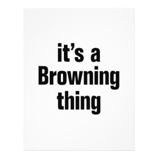 its a browning thing 21.5 cm x 28 cm flyer