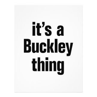 """its a buckley thing 8.5"""" x 11"""" flyer"""