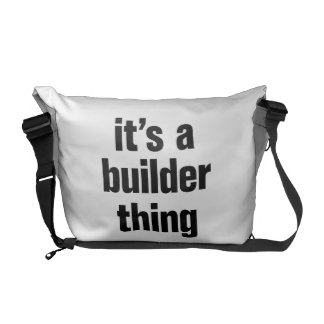 its a builder thing messenger bags