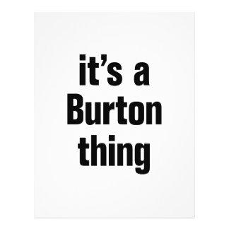 its a burton thing 21.5 cm x 28 cm flyer