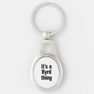 its a byrd thing Silver-Colored oval keychain