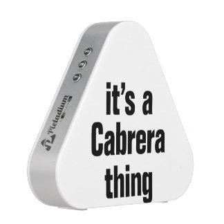 its a cabrera thing