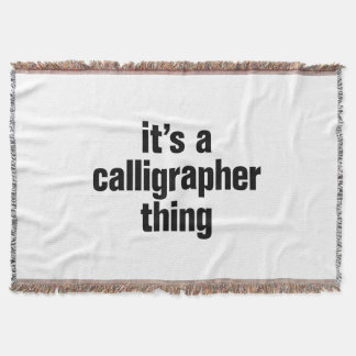 its a calligrapher thing