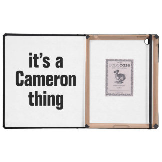 its a cameron thing iPad case
