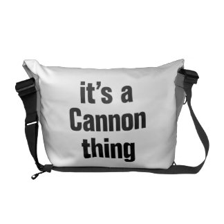 its a cannon thing messenger bag