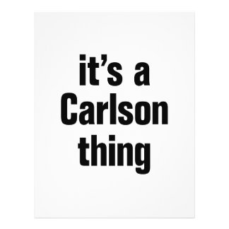 """its a carlson thing 8.5"""" x 11"""" flyer"""