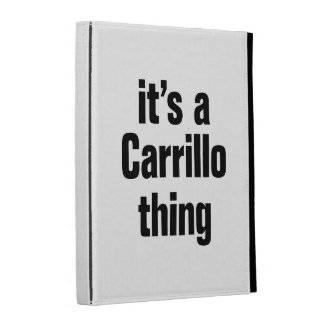 its a carrillo thing iPad folio cover