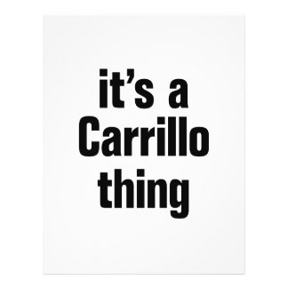 """its a carrillo thing 8.5"""" x 11"""" flyer"""