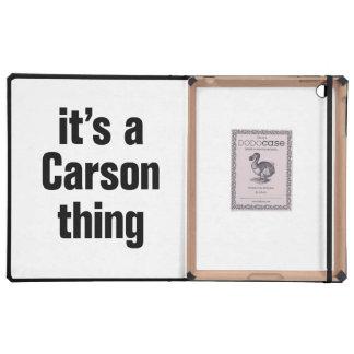 its a carson thing iPad folio case