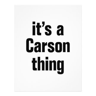"""its a carson thing 8.5"""" x 11"""" flyer"""