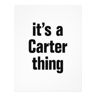 "its a carter thing 8.5"" x 11"" flyer"