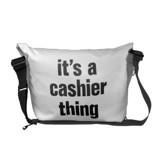 its a cashier thing messenger bags
