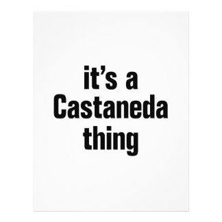 """its a castaneda thing 8.5"""" x 11"""" flyer"""
